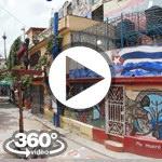 Habana Cuba: Callejon de Hamel video 360 grados panorámicos