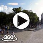 Habana Cuba: Plaza de Armas video 360 grados panorámicos