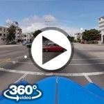 Habana Cuba: camera car Avenida 31 vuelta en almendron video 360